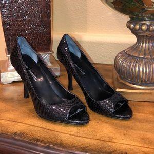 Black Snake Skin Heels!